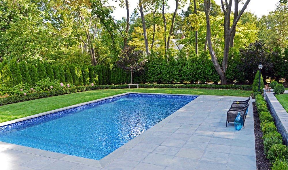 Swimming Pool Patio Modern Northport, NY