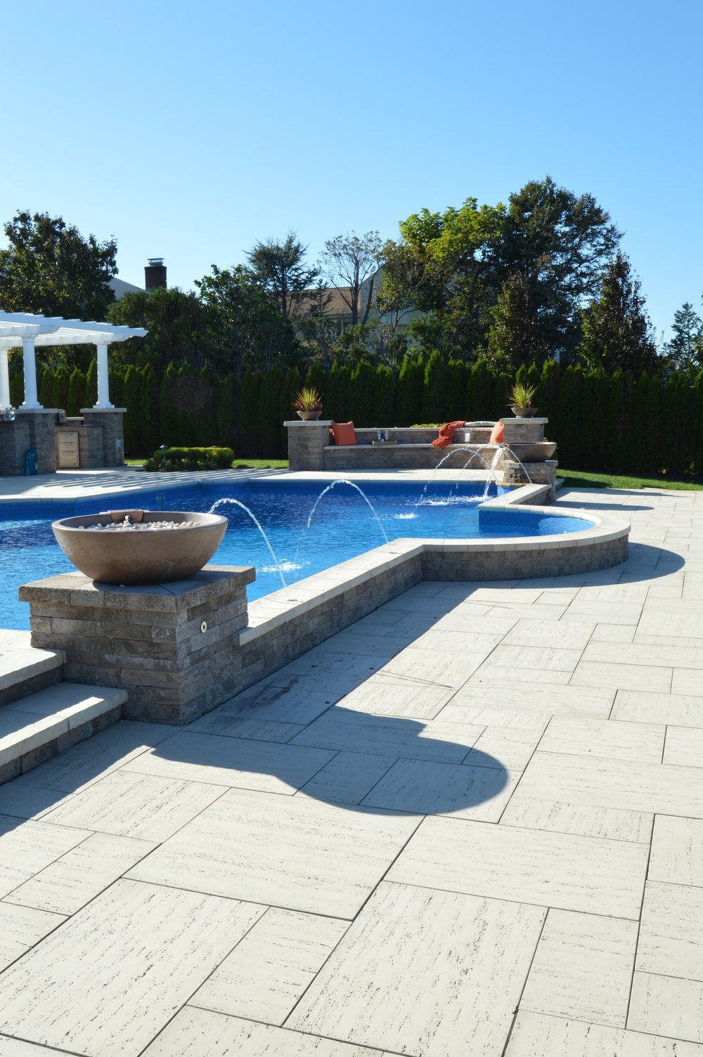 Techo bloc paver patio in Bayville, NY