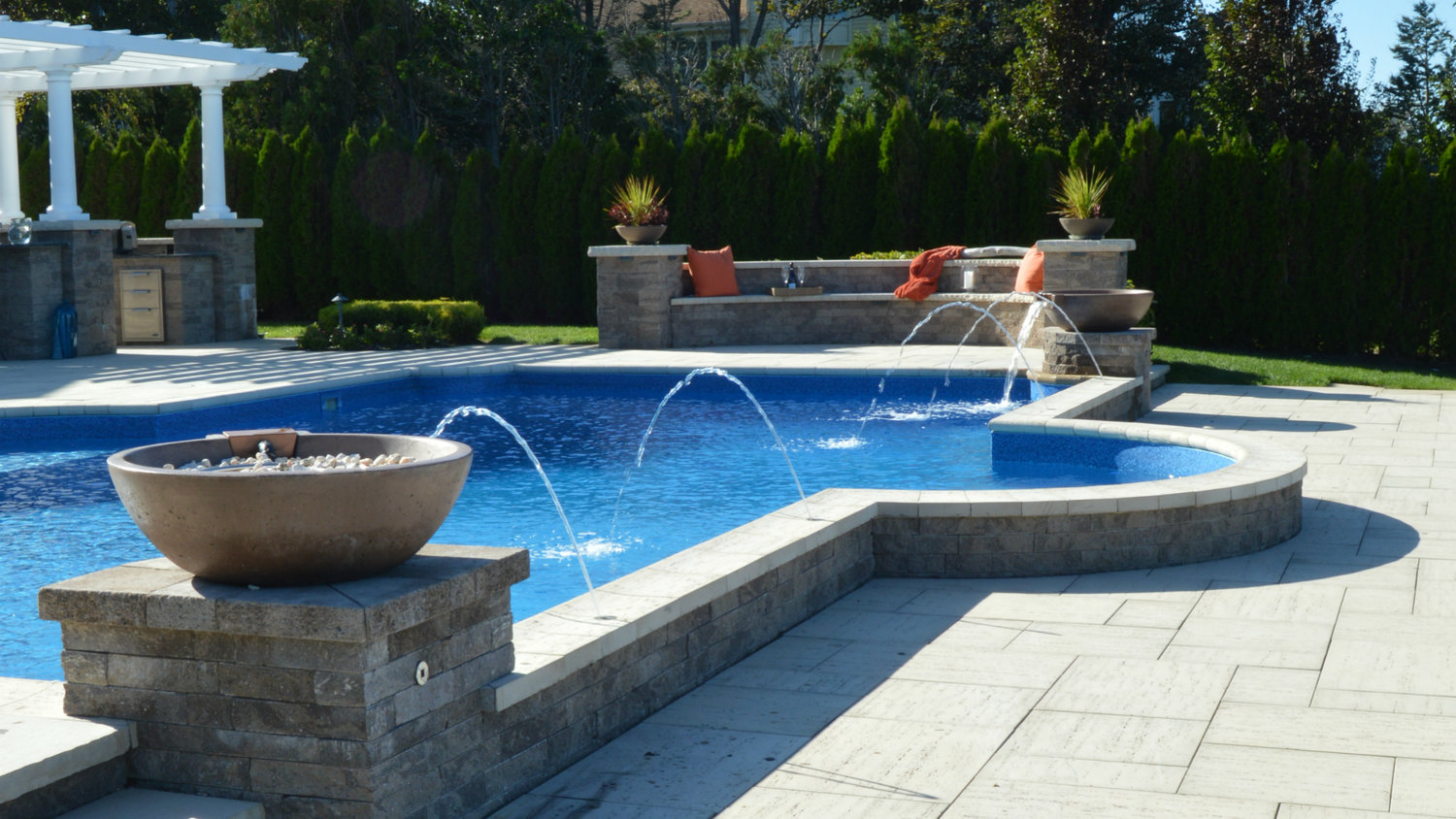 rock and water features for gorgeous backyard designs u2014 above all