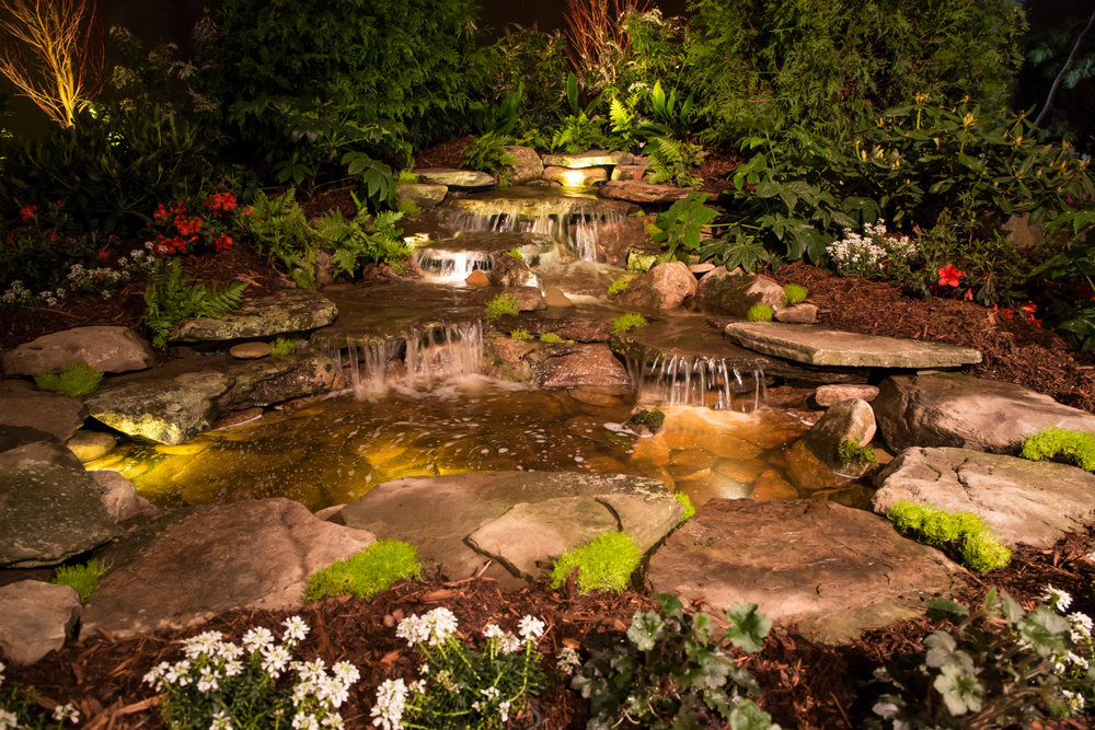 Enhance Your Nighttime Long Island NY Landscape with Water Feature Lighting