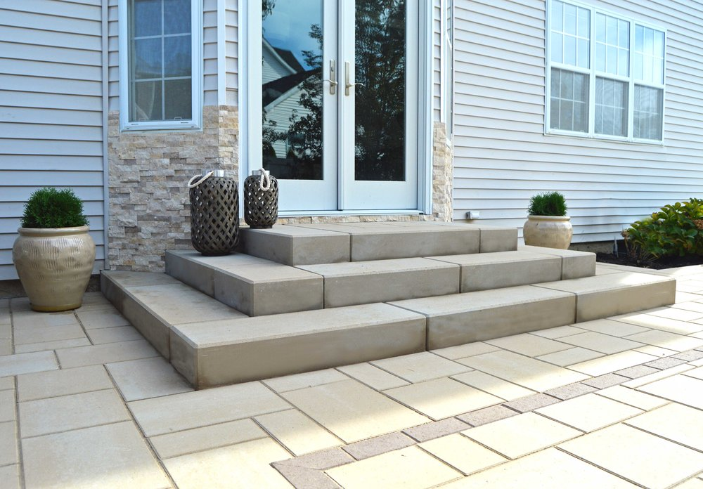 paver and brick steps