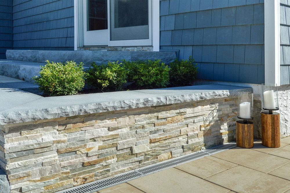 Retaining wall design in Long Island, NY