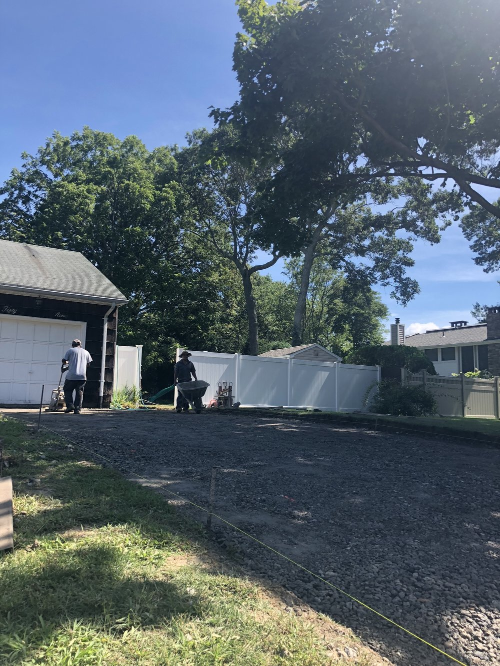 paver driveway renovation in lake grove, ny