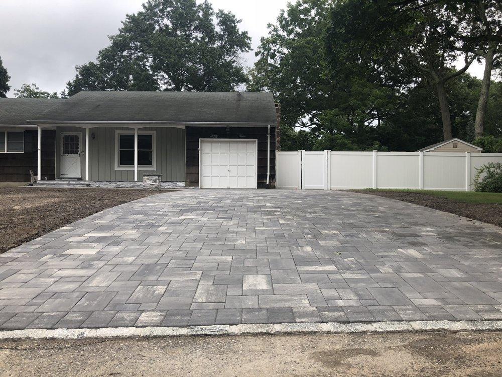 unilock driveway renovation in lake grove, ny