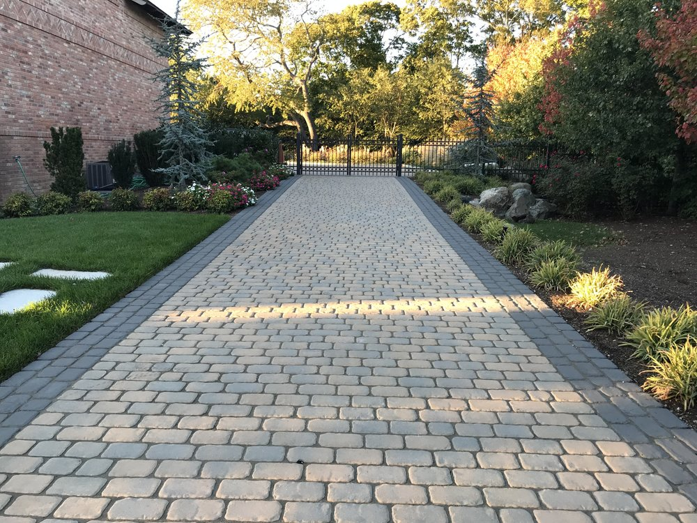 Boost Your Front Yard Landscape Architecture with a Cobblestone Driveway in Plainview, NY