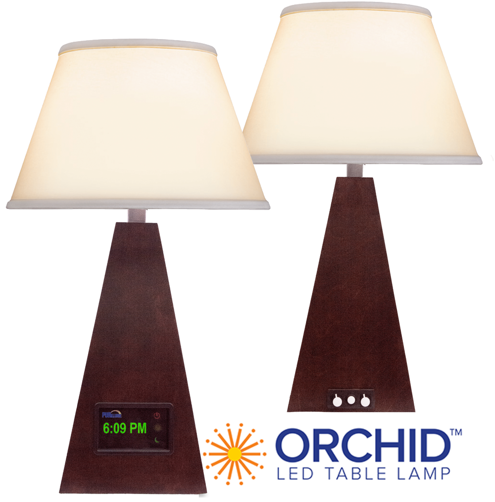 The Orchid LED lamp pairs with one or more satellite lamps for a full room experience.