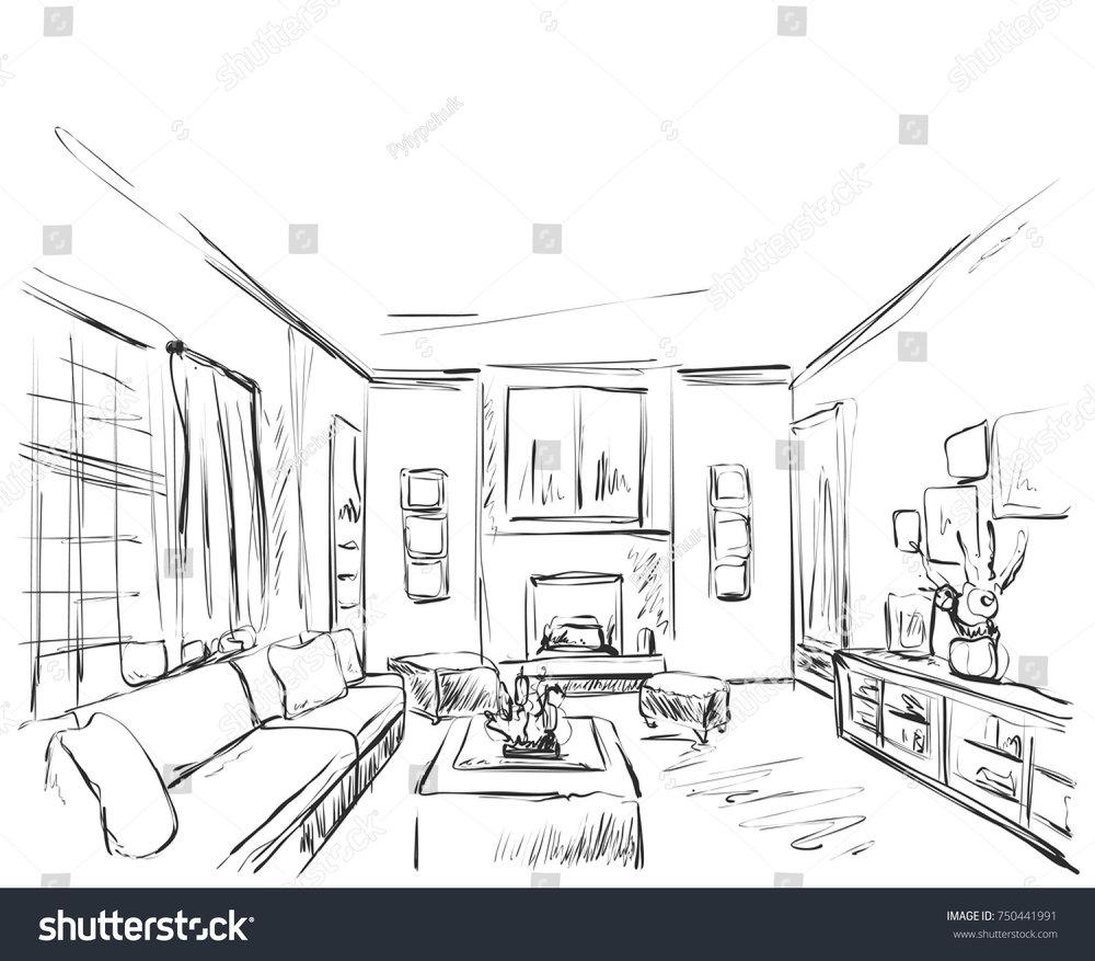 stock-vector-hand-drawn-room-interior-sketch-chair-sofa-table-flowerpot-750441991.jpg