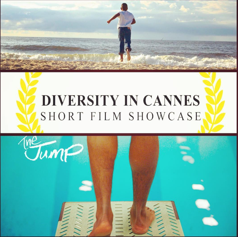 """The Jump"" is going international! Our film will be featured in the Diversity in Cannes showcase in France. Shoutout to director Jamal Hodge, our cast & crew and all our many supporters. The journey with this film continues to push me and I just seek to inspire others. Take the JUMP!"