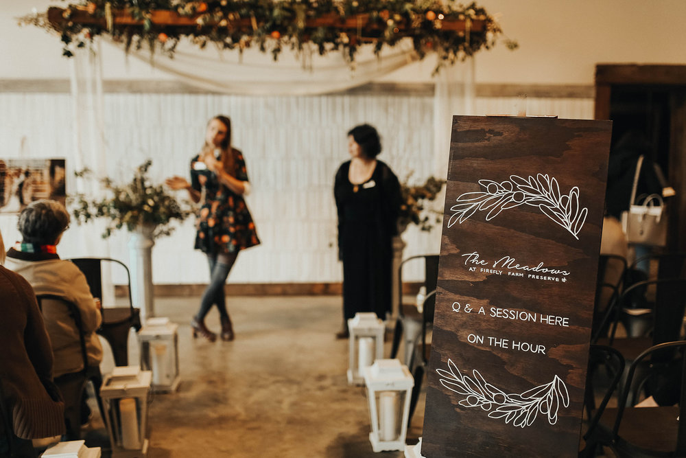 Signage by The Gathering Co.   Ceremony by Mews Designs