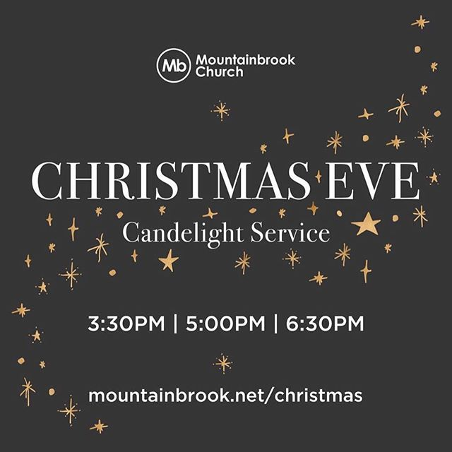 Join us for Christmas Eve at Mountainbrook! Three candlelight services to choose from at 3:30/5/6:30pm. Childcare available for ages 5 & under. Invite your friends and family, and don't miss it!! @MbSLO