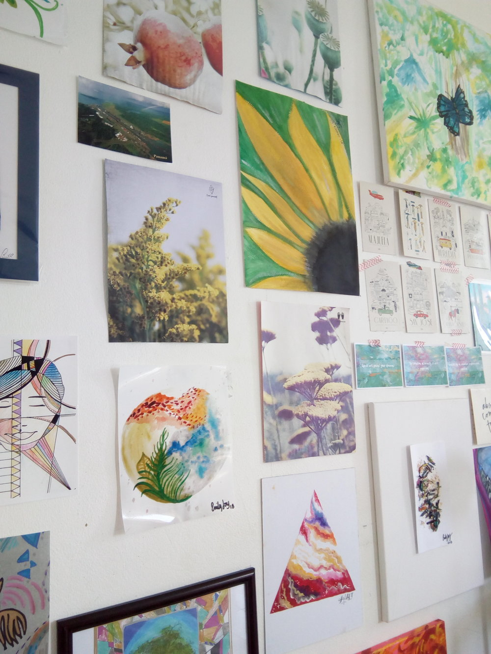 My Curated Collection: Gallery Wall of images I have been given, commissioned, made, found, bought, and students work from 2 017-2018