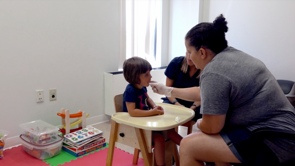 FAMILY CENTERED:   At ATA,  family members play an instrumental role in intervention . Research supports that learning is enhanced by repetition and practice. Family members at ATA receive on-going training with a goal of maximizing carry-over of therapeutic goals at home.