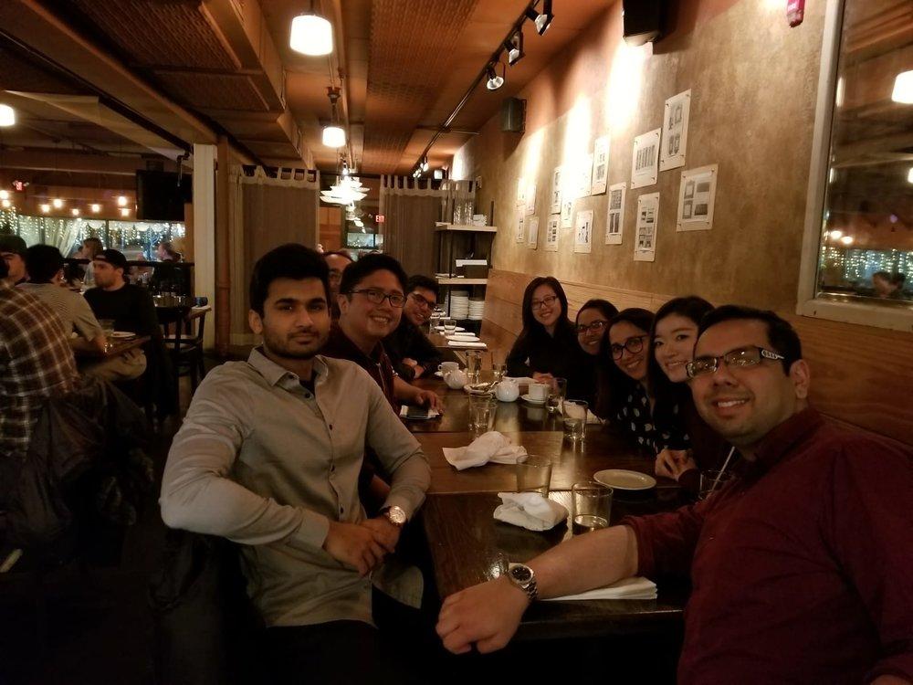 Lab holiday dinner 2018