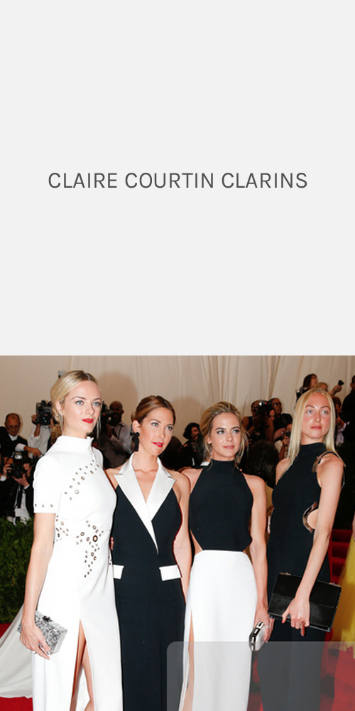CLAIRE COURTIN CLARINS - METGALA 2015