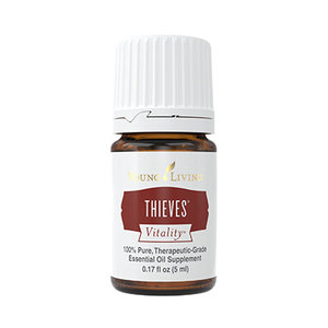 thieves   What:  a powerful blend of immune boosting oils!   Where:  we dilute Thieves 1:4 (1 part Thieves, 4 part  carrier oil  - it will always show you the ratio on the bottle) and apply to the spine using a roller ball as well as to the bottoms of the feet.   Why:  to work with the body's natural defense system. Great to use as a daily immune booster!   How:  apply topically as mentioned above, add a drop or two to warm tea, diffuse like crazy. Studies have shown that Thieves blasts over 95% of airborne germs.