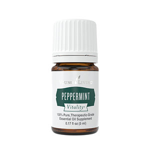 PEPPERMINT   What:  an energizing and digestion supporting oil.   Where:  we dilute Peppermint 1:4 (1 part Peppermint, 4 part carrier oil - it will always show you the ratio on the bottle) and apply to the spine using a roller ball, as well as to the bottoms of the feet.   Why:  to regulate body temperature, to energize your body, to help aid digestion and support an alert mind.   How:  apply topically as mentioned above, add a drop to protein shakes or your glass of water, diffuse for a lovely morning wake up call.