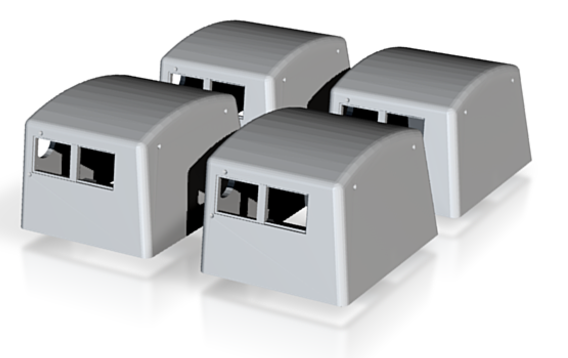N Scale 4PK PRR Tender Large Doghouse — Keystone Details