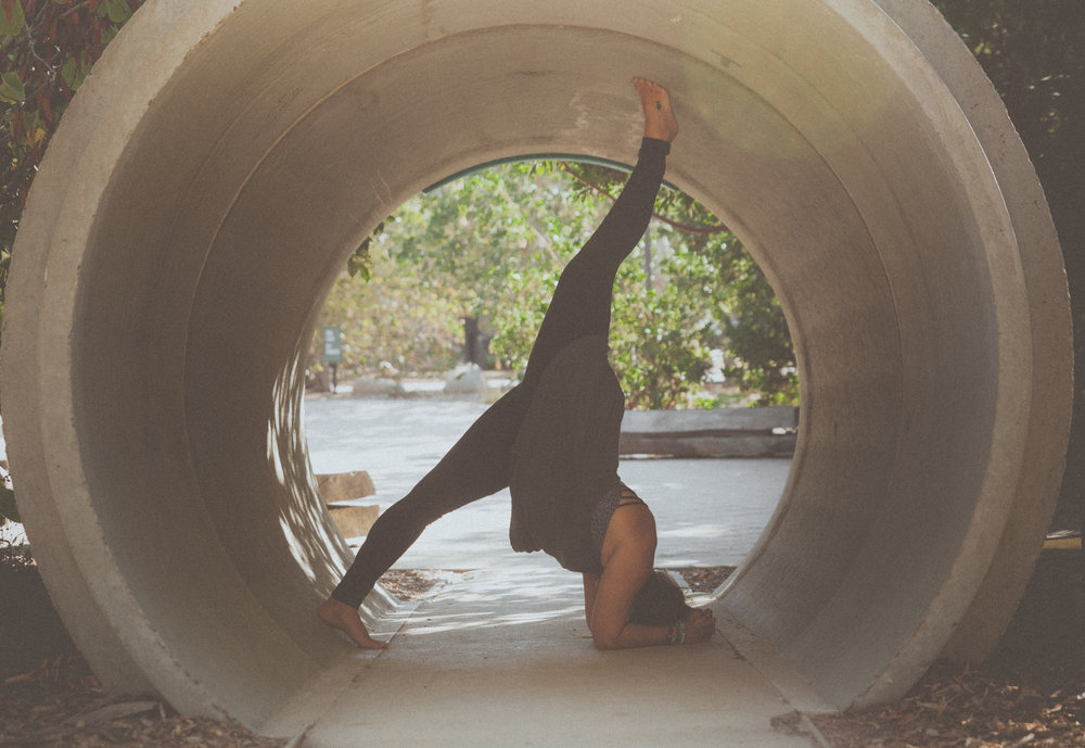 3 point down dog: headstand arms variation in Beverly Hills/Coldwater Canyon