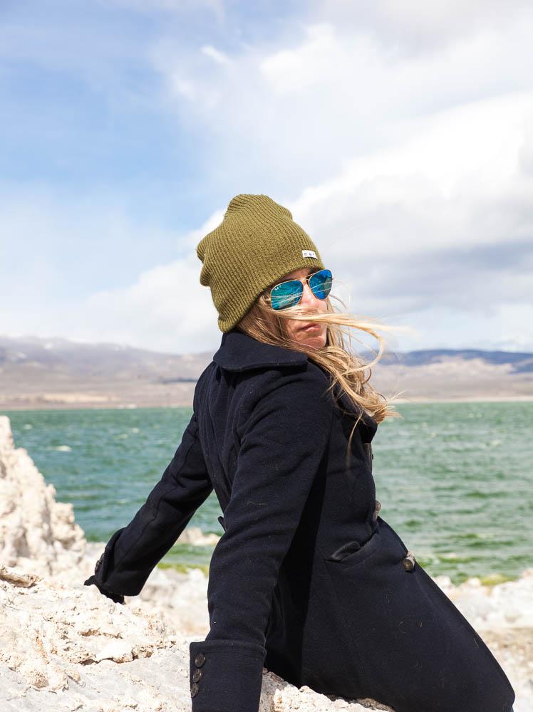 Christina at Mono Lake