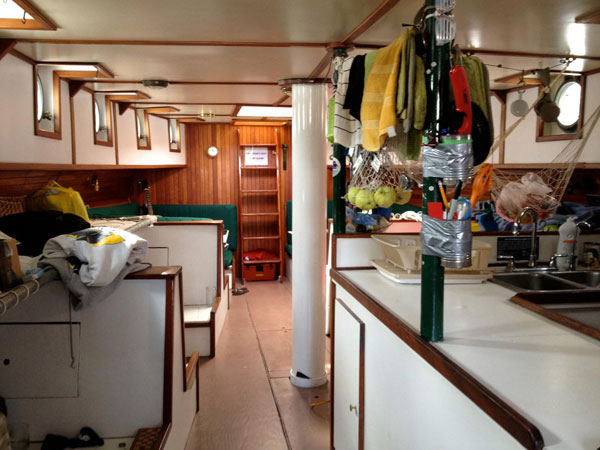 The main cabin of our ship.