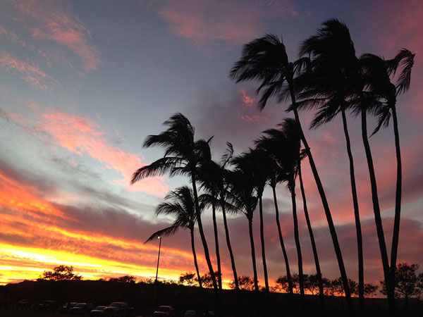Sunset on the south shore of Kauai.