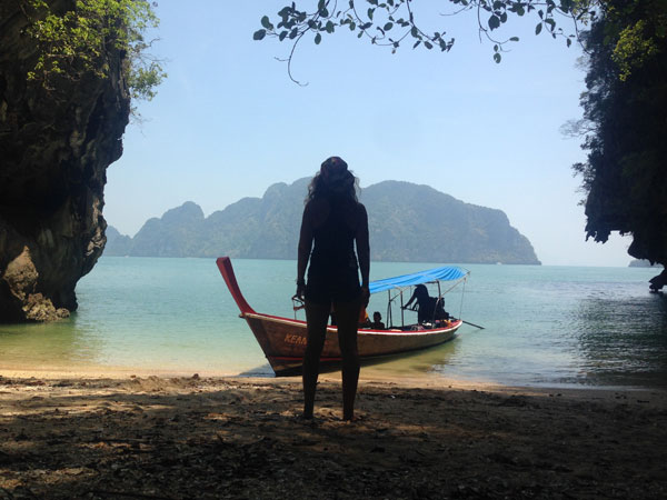 Taking in the view at Khao Phing Kan.