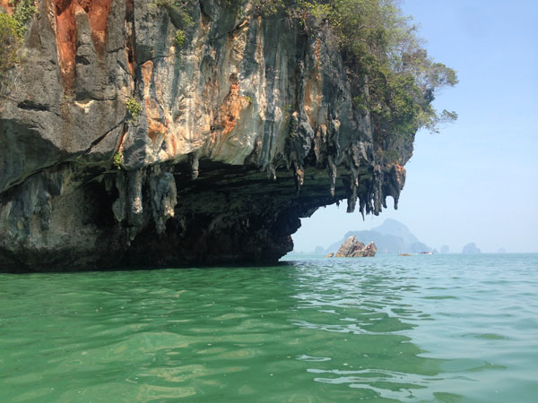 Natural rock formations in Khao Sok.