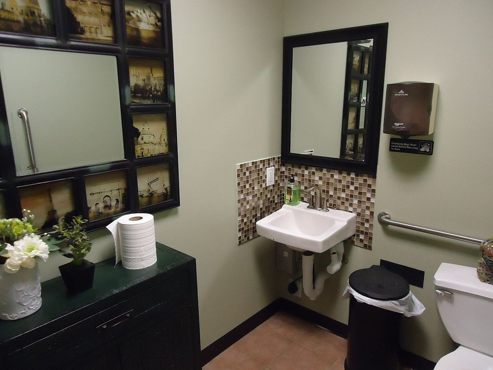 The folly of many attractive bathrooms is they don't make the occupant look attractive.