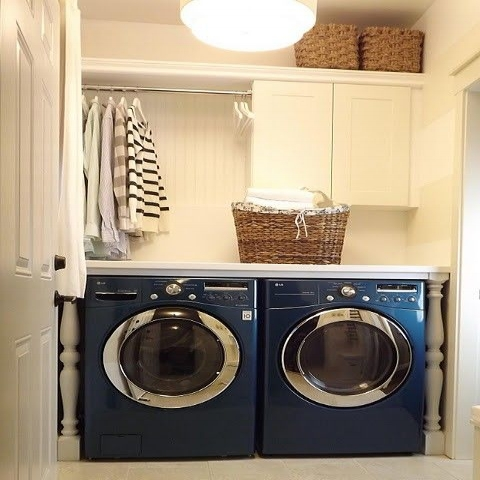A pole above your washer could put your dryer almost out of business.