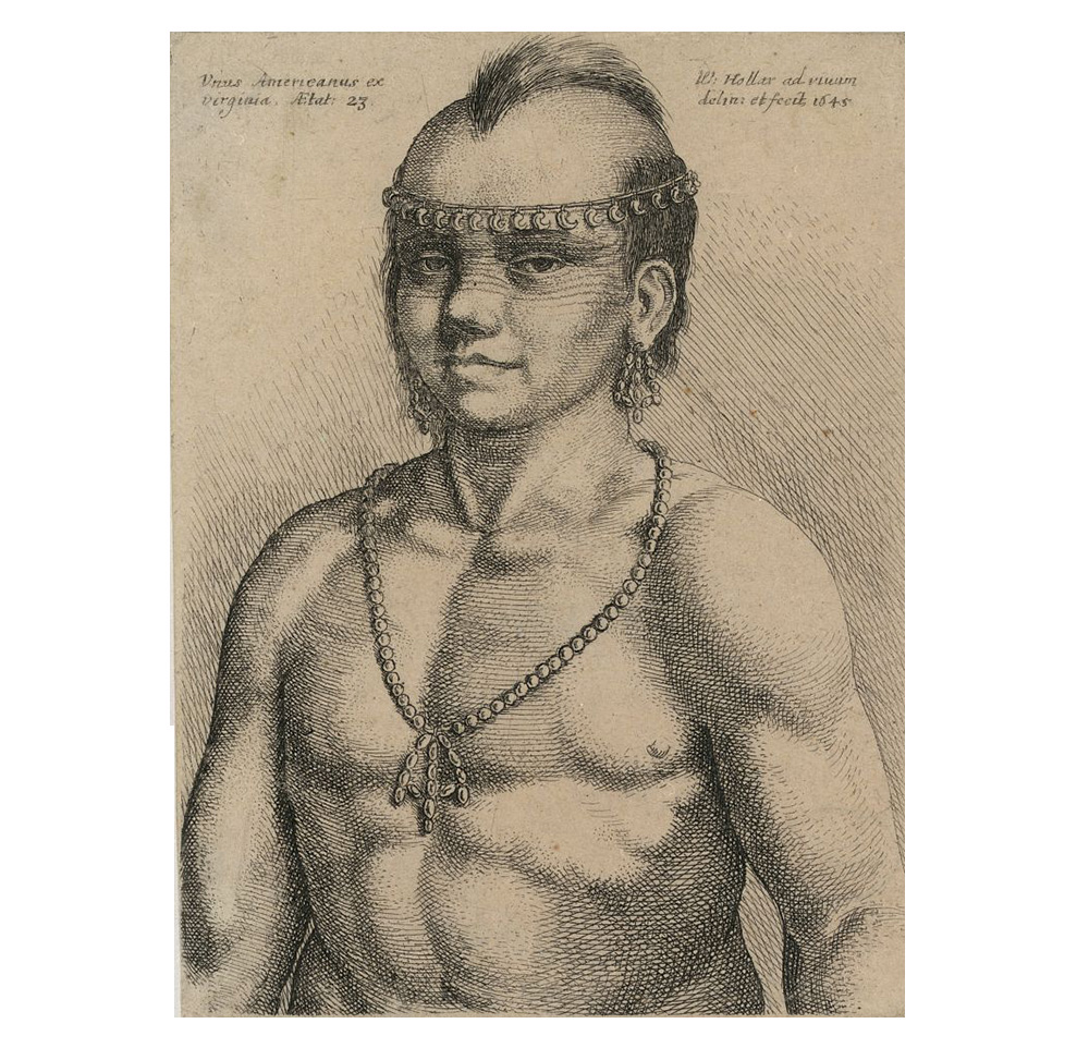 Wenceslaus Hollar, Algonquian Indian   1645