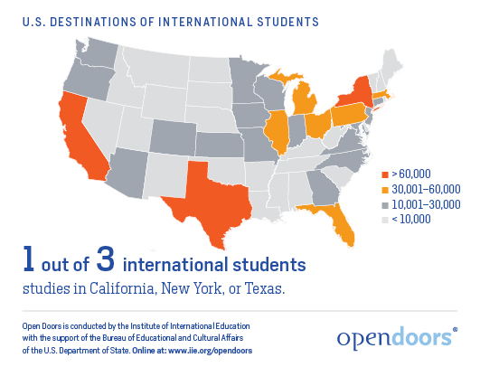 English US Education Consulting - Best education map of us