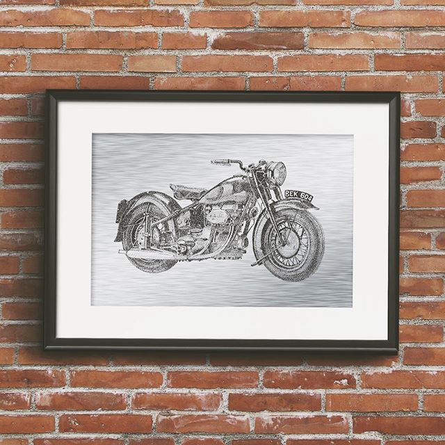 YOUR licence plate • released today the Sunbeam S7 on brushed aluminum comes with the option to have a custom licence plate. Visit my store at www.breannebryans.com for details #sunbeams7 #pointillism #motorcycleart #bikerart #BSA #madeinvancouver #canadianart #fineartprints #shoplocal #supportart