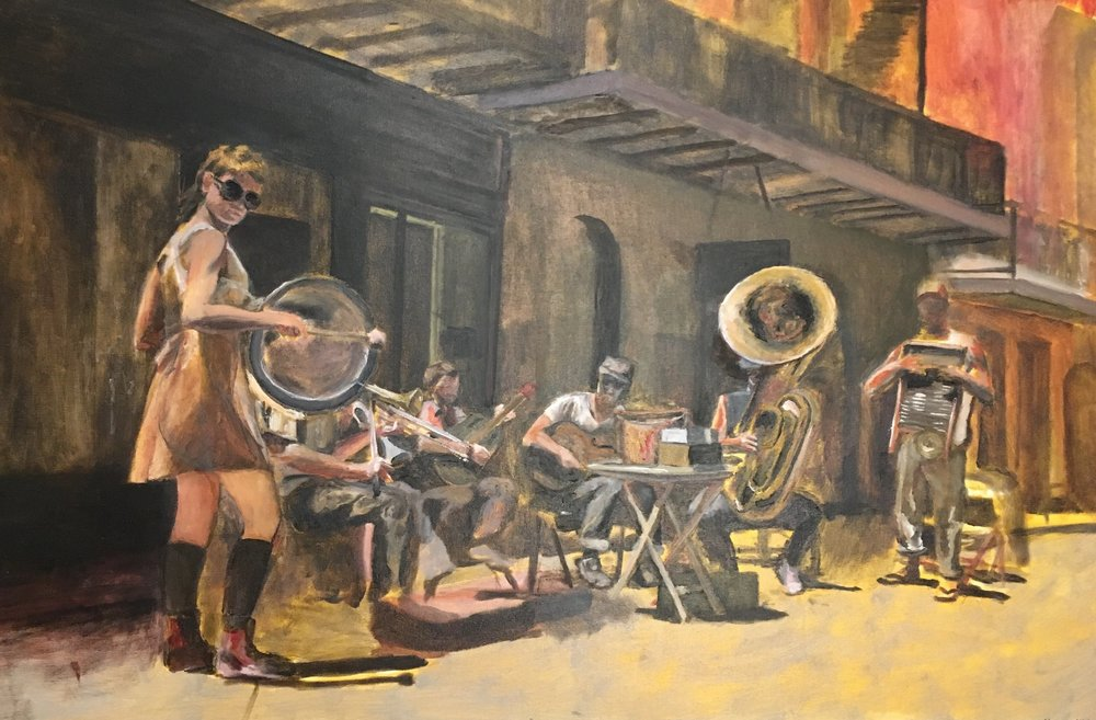 Tuba Skinny , 2015 2' x 3' oil on canvas