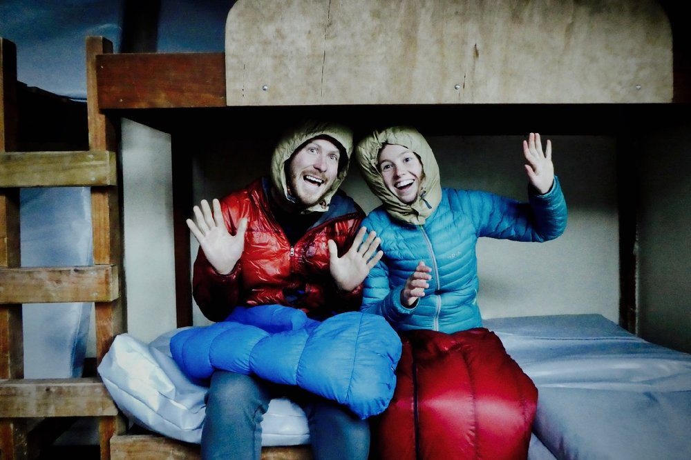 JEREMY PLATT & CONSTANCE TITTERTON - Ep.3 - 'The Titterplatt Traverse' - NZ by any meansTurning up with home-made 'pack-skooters' and inflatable rafts, Constance and Jeremy had the whole room engrossed and in tears of laughter as they regaled stories of their 6 month trip through New Zealand.If there's anything to be learned from these guys, it's that you don't need to be an expert to have adventure. Once you've got a couple of basics covered, you're never really going to know how things pan out - so it's best to just go, and be okay with using your imagination to get through to the next day.Their spirit was infectious, and just shows how incredible a shared journey with the right partner can be.