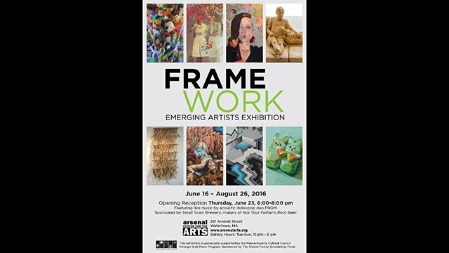 One of my paintings was selected for an exhibition called Framework, at The Arsenal Center for the Arts in Watertown, MA.  The opening is on Thursday, June 23rd from 6-9p.  Come if you can make it, there will be drinks and live music, so it should be a good time.  See you there!  If you can't make the opening, check out the show anyway, its open until August 26th.  #art #abstractart #mixedmediaart #arsenalcenterforarts #gallery #exhibition