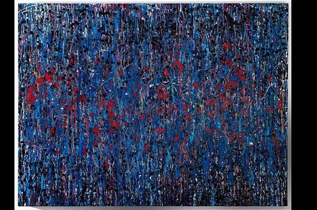 "Transmission (36"" x 48"" Acrylic & Mixed Media on Canvas) #aaronmorseart #art #artist #abstractart #mixedmediaart #modernart #contemporaryart #painting #mixedmedia"