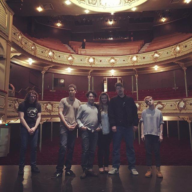 Last night's awkward group photo. HUGE night of laughs last night @theatreroyalhobart, thanks for having us!  @devonport_entertainment_centre you're up next!  #showcasetour2016 #sydneycomedyfestival #makinglols #comedy #standupcomedy #haha #familyportrait #awkward #theatre