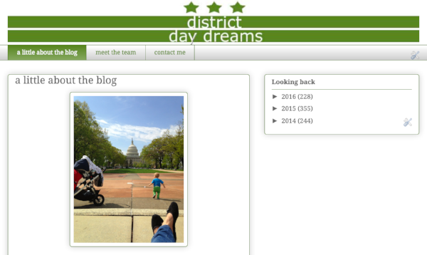 My original District daydreams blog