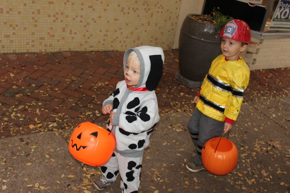 Halloween 2015 - Firefighter + Dalmatian
