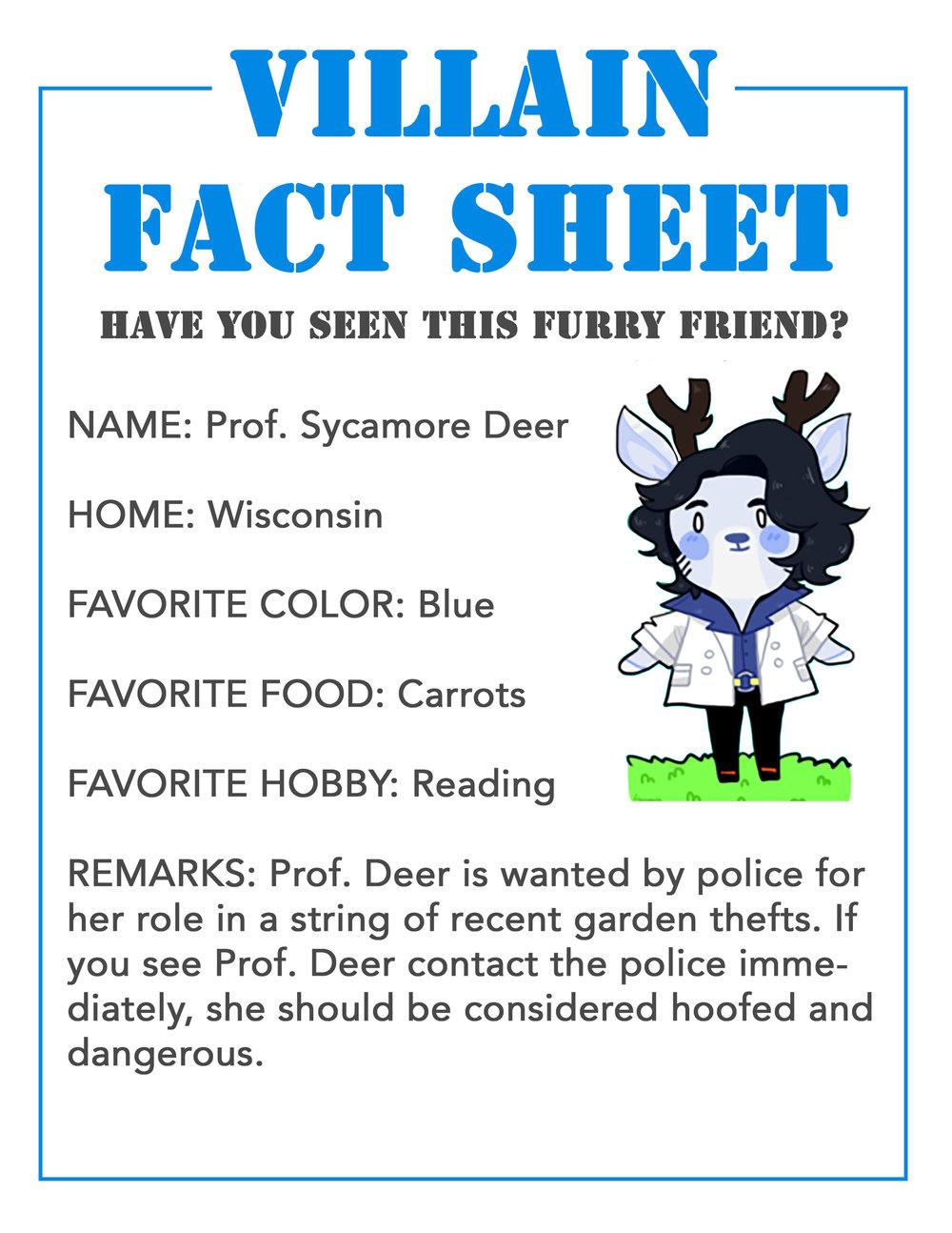 Villain Fact Sheet