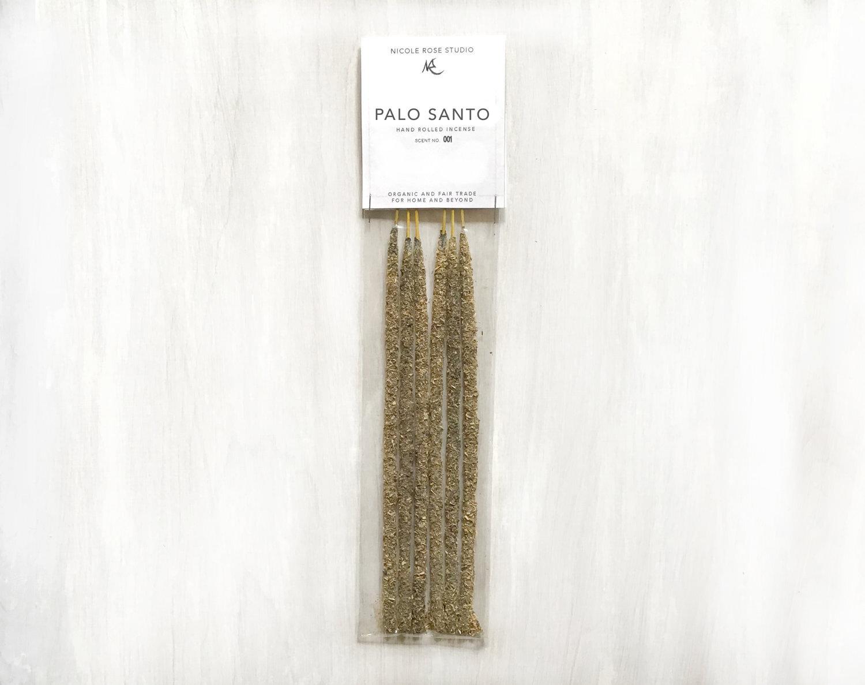 Palo Santo Hand Rolled Resin Incense Nicole Rose Studio