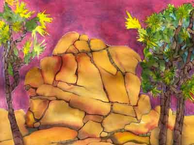 Lynn Zachreson Watercolor Workshop at Sunnyrock Acres, Joshua Tree