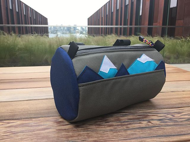 Custom handle bar bag for someone riding in Mt. Baker's backyard