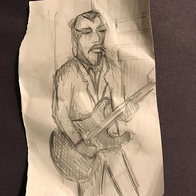 Thank you to the anonymous artist that sketched @wade.keighran during our show @artgalleryofnsw last night. Xo