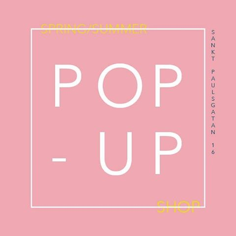 Spring is starting now and summer is on it's way! Next week 22th to 28th May you find a lot of cool products and us at Södermalm Pop-Up. #södermalm