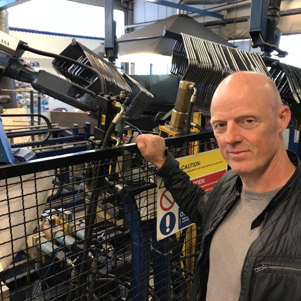Fabrikksjef i Sykkylven Stål, Lars Skog.