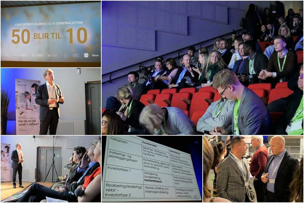 Finansieringsdagen under Næringsteft 2018. MRB holder foredrag om verdivurdering av selskap.