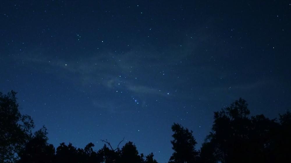 Shot on the night of the Orionid Meteor Shower