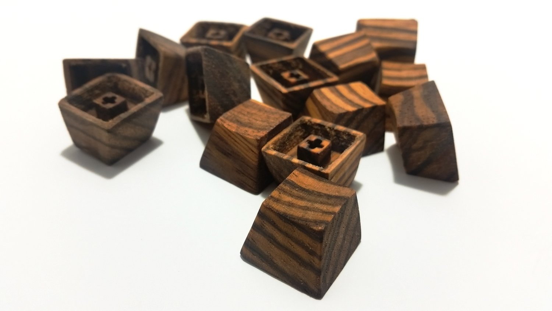 Handmade Zebrawood Keycap (Original) Single — Mechanicallee Keyboards