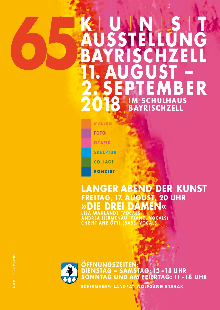 -                                      Kunstausstellung Bayrischzell                                   11. August bis 2. September 2018